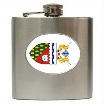 Coat Of Arms Of The Northwest Hip Flask (Classic Stainless Steel) - $14.35
