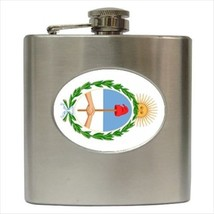 Coat Of Arms Of Argentina Hip Flask (Classic Stainless Steel) - Heraldic Tabard - $14.35