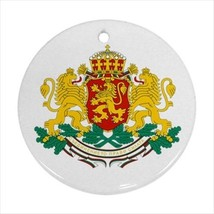 Coat of Arms of Bulgaria Round Ornament w/ Ribbon Hanger - Tabard Surcoat - $7.17