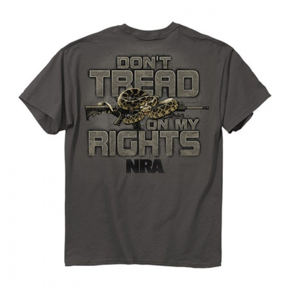 New DON'T TREAD ON MY RIGHTS T SHIRT  OFFICIALLY LICENSED NRA SHIRT - $16.82 - $19.79