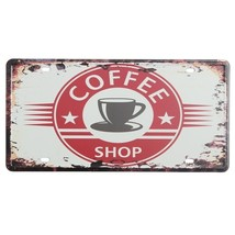 Coffee License Plate Tin Sign Vintage Metal Pla... - $9.63