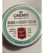 CREMO BEARD & SCRUFF CREAM - Wild Mint Scent - 4 oz . Barber Grade - $13.81