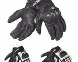 Men Leather Gloves Motocross Riding Full Finger Windproof For DUHAN t1