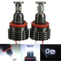 80W H8 LED Angel Eyes Halo Light Error Free For... - $73.98