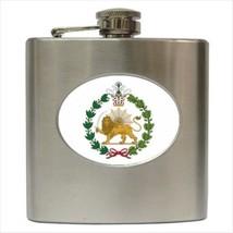 Iran Emblem Hip Flask (Classic Stainless Steel) - Heraldic Tabard - $14.35