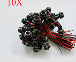 10X T10  Dash Board Socket Plug LED Incandescent Wire Motorcycle