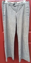 Banana Republic Stretch Gray Black Plaid Dress Pants Women's Size 6 Flare - $18.48