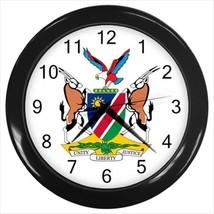 Namibia Coat of Arms Wall Clock - Tabard Surcoat - $17.94