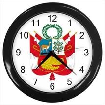 Peru Coat of Arms Wall Clock - Tabard Surcoat - $17.94