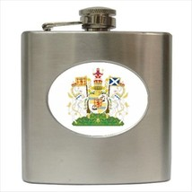 Royal Coat Of Arms Scotland Stainless Steel Hip Flask - Heraldic Tabard ... - €11,70 EUR