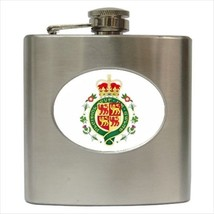 Royal Badge Of Wales Stainless Steel Hip Flask - Heraldic Tabard Design - €11,70 EUR