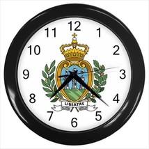 San Marino Coat of Arms Wall Clock - Tabard Surcoat - $17.94