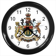 Saskatchewan Coat of Arms Wall Clock - Tabard Surcoat - $17.94