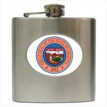 Seal Of Arizona USA Stainless Steel Hip Flask - Heraldic Tabard Design - $14.35