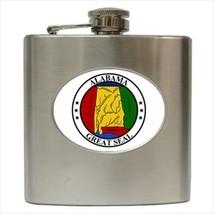 Seal Of Alabama USA Stainless Steel Hip Flask - Heraldic Tabard Design - $14.35