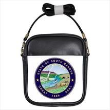 Seal of South Dakota US Leather Sling Bag (Crossbody Shoulder) - Tabard Surcoat - $14.35