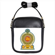 Sri Lanka Coat of Arms Leather Sling Bag (Crossbody Shoulder) - Tabard Surcoat - $14.35