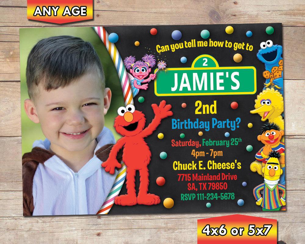 Elmo Photo Birthday Party Invitation and 50 similar items