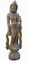 Chinese Stone Standing Kwan Yin Tara Bodhisattva Statue cs2185 - $2,680.00