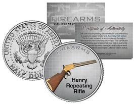 HENRY REPEATING RIFLE Gun Firearm JFK Kennedy Half Dollar US Colorized Coin - $8.95