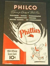 1954 Philadelphia Phillies Philco Baseball Program Scorecard Unscored Reds - $29.21
