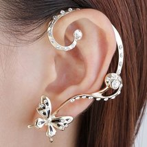 She She Kouture Pair of Sweet Butterfly Rhinestone Inlaid Women's Ear Cuffs - $17.00