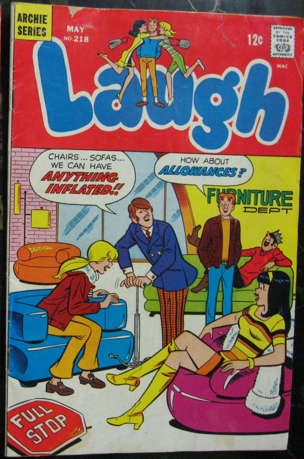 Primary image for LAUGH COMICS# 218 May 1969 Silver Age Archie: 4.0 VG