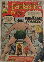 FANTASTIC FOUR# 14 May 1963 4th Sub-Mariner 2nd Puppet Master Lee/Kirby:... - $165.00