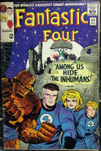 FANTASTIC FOUR# 45 Dec 1965 1st Inhumans Black Bolt Kirby Silver KEY: 7.... - $850.00