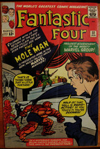 FANTASTIC FOUR# 22 Jan 1964 2nd Mole Man Kirby Cover/Art Silver Age Key:... - $105.00