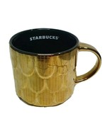 Starbucks Mug Ceramic Gold Mermaid Scales Scalloped Coffee Mug 14 fl oz Holiday - $20.69