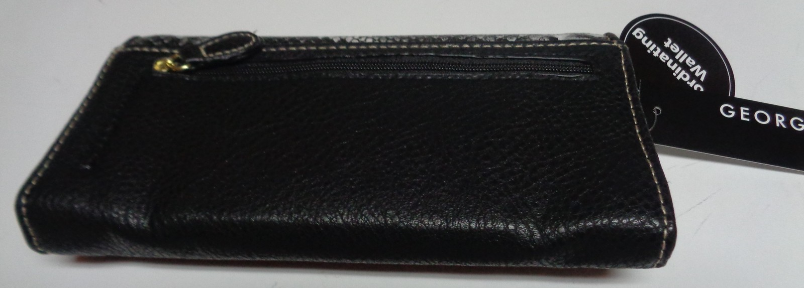 Women's Coordinating Wallet NWT Black White Snakeskin Print Bifold Faux Leather