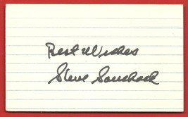 "SIGNED  AUTOGRAPH  OF   STEVE  SOUCHOCK   ON  "" 3 X 5 ""  INDEX CARD   !! - $19.99"