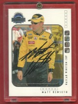 2002 / 03 Matt Kenseth Signed Autographed Eclipse Press Pass Mint - $19.99