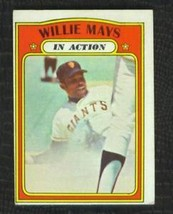 1972 Topps #50 Willie Mays In Action No Creases Vg+ Set Break - $14.99