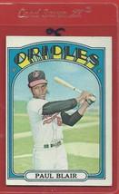 1972 Topps High # 660 Paul Blair From A Set Break !! - $94.99