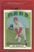1972 Topps High # 738 Jim Merritt From A Set Break !! - $94.99