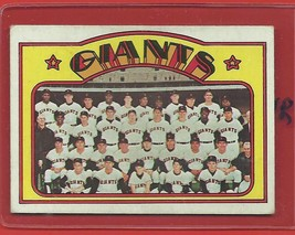 1972 Topps High # 771 Giants Team Card From A Set Break !! - $94.99