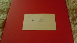 "AUTOGRAPH  OF   ALLEN  GETTEL     ON  3 X 5""  INDEX  CARD   !! - $19.99"