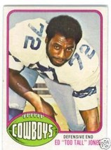 1976 Topps # 427 Too Tall Jones Rookie Ex !! - $9.99