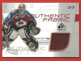 2001 / 02   SP   PATRICK  ROY   AUTHENTIC  GAME  USED  JERSEY   !! - $14.99