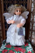 Vintage Display Arts Christmas Angel Little People Moving Animated Angel - $45.00