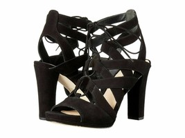 Via Spiga Collette Black Suede Women's Lace Platform High Heels Sandals ... - $75.38