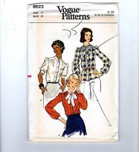 70s Vogue Sewing Pattern #8623 Blouse Neck Tie Size 14 Bust 36 - $12.38