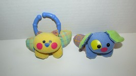 Fisher Price replacement hanging yellow blue plaid cat dog baby activity... - $8.90