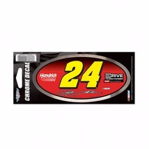Jeff Gordon 2015 Wincraft #24 Drive to End Hunger 3x7 Chrome Decal FREE ... - $4.49
