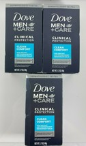 Lot 3 Dove Clinical Protection CLEAN COMFORT Antiperspirant Deodorant 1.... - $22.72