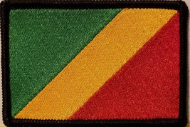 """[Single Count] Custom and Unique (3 1/2 """" x 2 1/4"""" Inches) CONGO FLAG Rectang... - $6.92"""