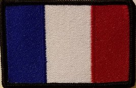 """[Single Count] Custom and Unique (3 1/2 """" x 2 1/4"""" Inches) FRANCE FLAG Rectan... - $6.92"""