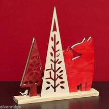 Laser Wood Centerpiece Flourish Woodlands Red Fox Centerpiece image 2